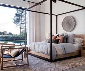 master bedroom, bohemian decor, and home tour image