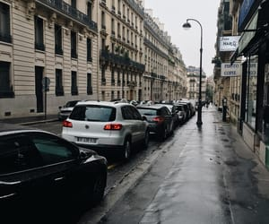 france, paris, and rain image