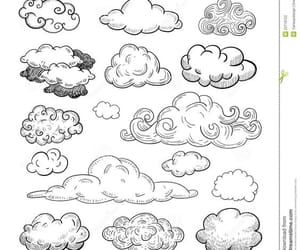 clouds and drawing image
