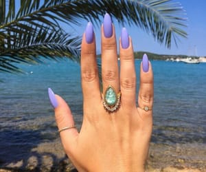 nails, beach, and purple image