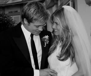 brad pitt, Jennifer Aniston, and wedding image