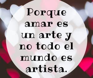 amor, arte, and artista image