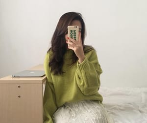 fashion, green, and soft image
