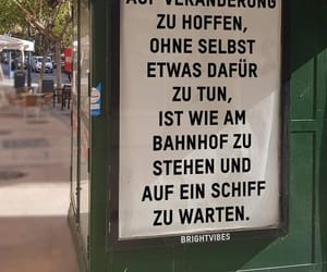 deutsch, bahnhof, and spruch image