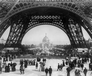 b&w, french, and vintage image