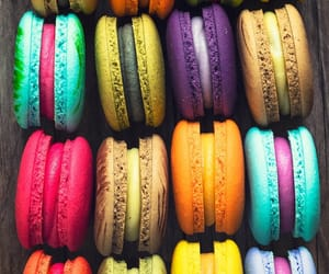 colorful, ‎macarons, and colors image