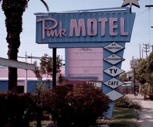 pink, motel, and grunge image