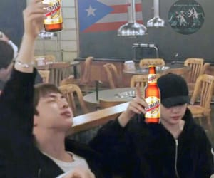 bts, jin, and reaction image