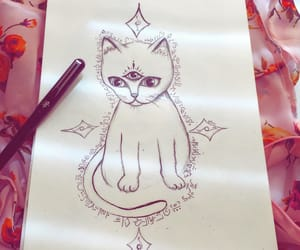 cat, chakras, and draw image