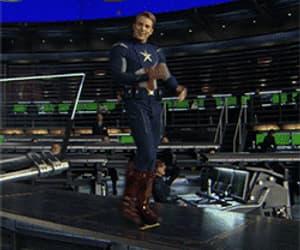 chris evans, gif, and Marvel image