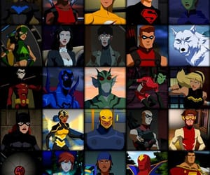 DC, justice league, and young justice image