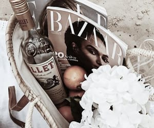 drink, fashion, and flowers image