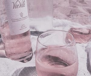 aesthetic, wine, and pink image