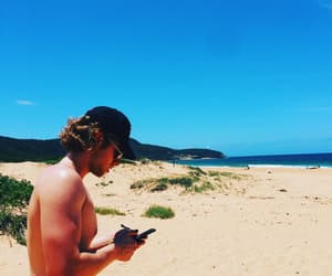 beach, handsome, and 5sos image