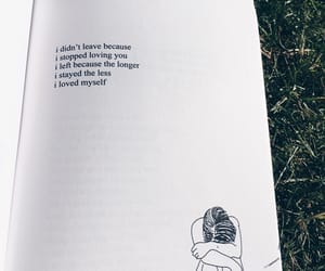 book, heartbreak, and leave image