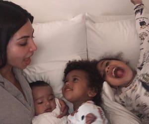 baby, kim kardashian, and family image