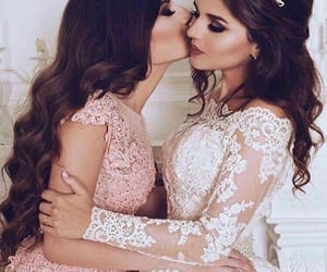 dress, wedding, and friends image