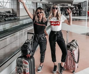 airport, fashion, and friendship image