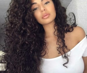 curly hair, girls, and pretty image