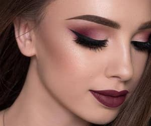 eyeshadow, eyebrows, and eyelashes image