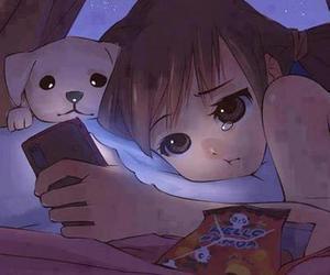 sad, cry, and anime image