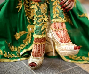 art, bride, and feets image