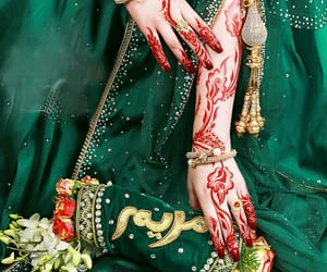 bride, henna, and styles image