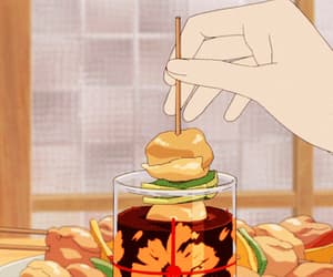 gif, food, and anime image
