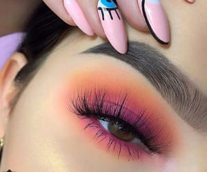 makeup, nails, and orange image