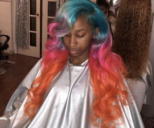 frontal, hair dye, and lace wig image