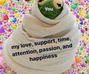 meme, love, and kermit image