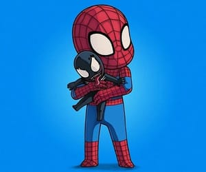 azul, dibujo, and spiderman image