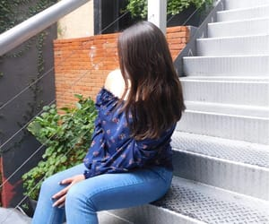 hair, stairs, and tumblr image