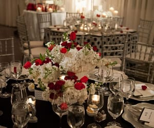 cake, candles, and centerpiece image