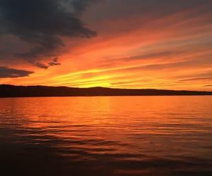 michigan and sunset image