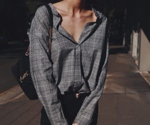 fashion, style, and grey image