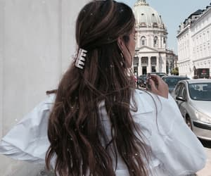 hair, girl, and travel image
