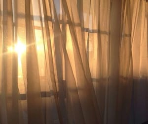 aesthetic, sun, and curtains image
