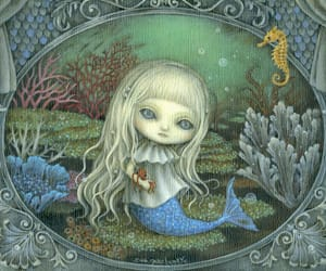 magic, sea life, and fairy tale image