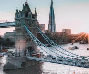 city, bridge, and london image