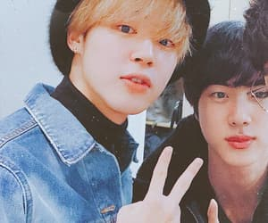 jin, bts, and park jimin image