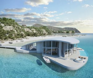 architecture, beachfront, and decor image