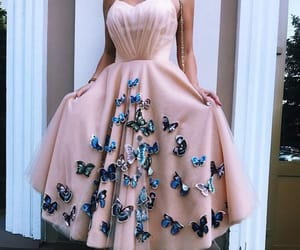 dress, butterfly, and fashion image