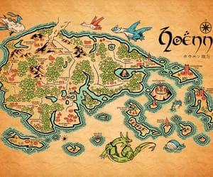pokemon, map, and hoenn image
