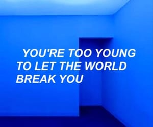 blue, aesthetic, and quotes image