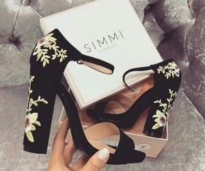 shoes, fashion, and flowers image