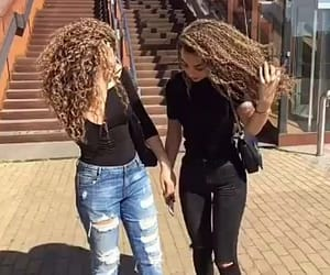 curls, curly, and sister image