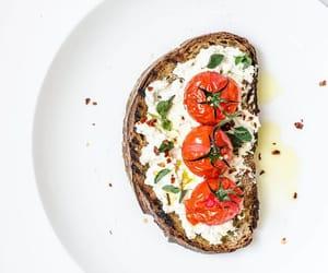 basil, toast, and cream cheese image