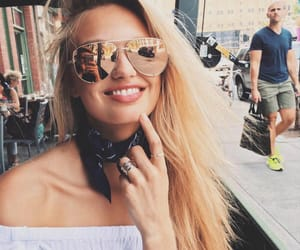blonde, breakfast, and fashion image