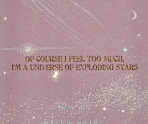 pink, quotes, and stars image